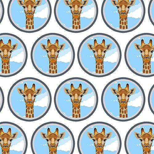 - Premium Gift Wrap Wrapping Paper Roll Animals Going On Safari - Giraffe Zoo Animal Safari