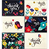 Thank You Cards - 36 Floral Thank You Notes - Perfect for Weddings - Engagements - Women - Baby Showers - Kids - Business - Graduations - 4x6 Photo Size - Blank Inside - Crafted in the USA