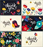 Spark Ink Thank You Cards 36 Floral Thank You Notes with Envelopes for Wedding, Baby & Bridal Shower, and Business Use - 4x6 Size - Bulk Pack