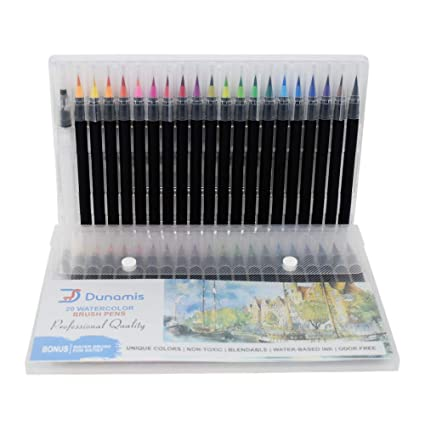 Amazon.com: Watercolor Brush Pens, Calligraphy Pen, Best Real Soft ...