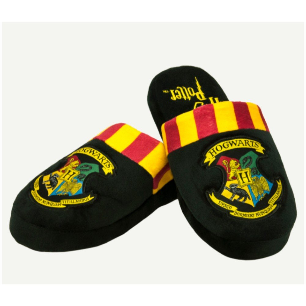 Harry Potter Hogwarts Crest Donna Felpa Pantofole Pantofole NereNero