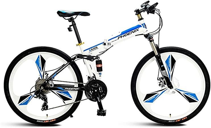 KOSGK Bicicleta Hombre Trail Mens 26 Wheel Mountain Bike 27 Speed ...