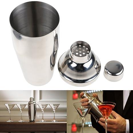 Compra Cóctel Coctelera por Annstory, 6 Piezas Acero Inoxidable Coctel Bebida Set Profesional incluye 750ml Coctelera, Machacador, Cuchara de La Mezcla, ...