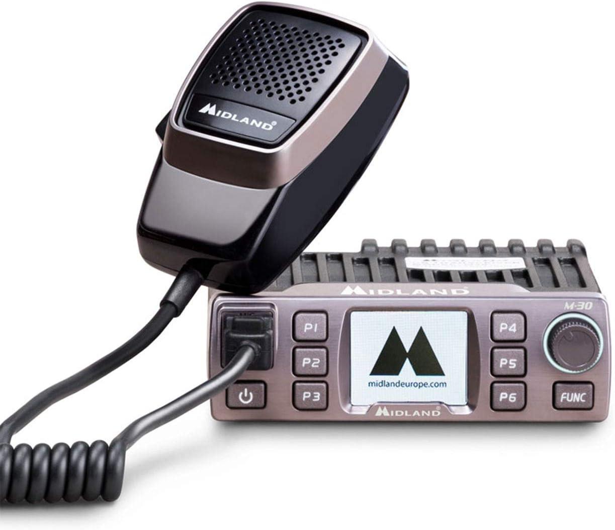 Midland M 30 Cb Funkgerät Mit Mikrofon 12 24v Farbdisplay 6 Programmierbare Tasten Digital Squelch 4 Watt Am Fm Auto
