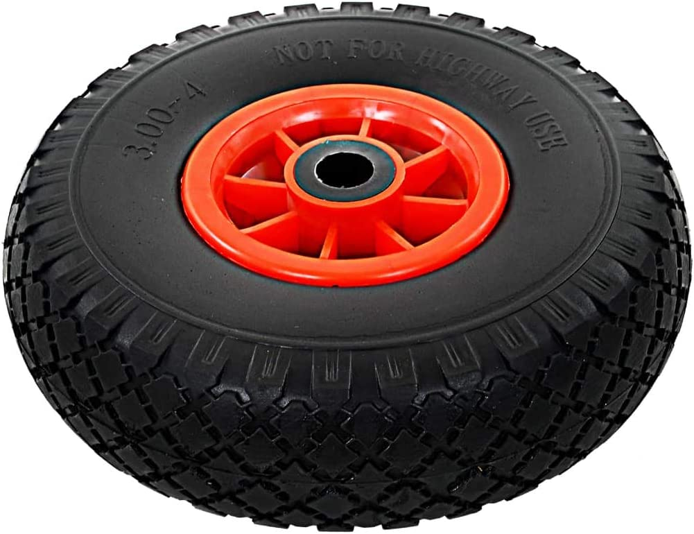 260x85 mewmewcat Sack Truck Wheels 2 pcs Solid PU 3.00-4