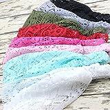 DRESHOW 8 Pieces Women Fashion Lace Elastic Head