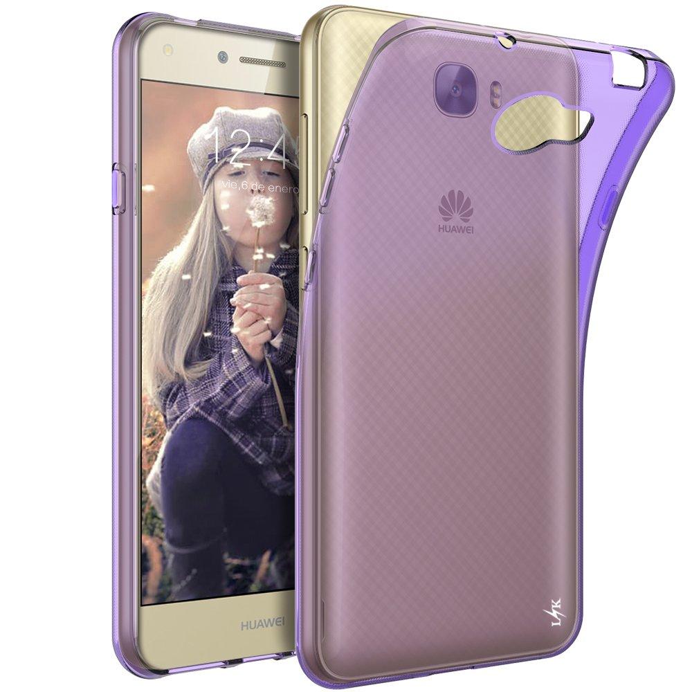 LK Funda para Huawei Y6 II Compact/Huawei Y5 II, Carcasa Cubierta TPU Silicona Goma Suave Case Cover Ultra Fino Anti-Arañazos - Púrpura