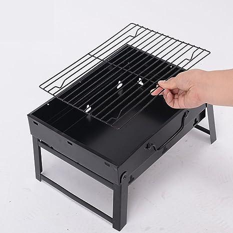 Cocinar al aire libre barbacoa plegable portátil barbacoa parrillas ...