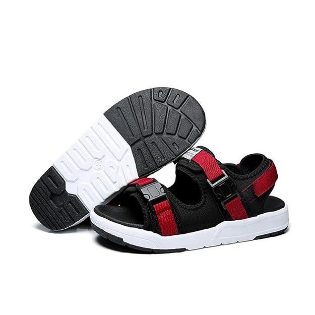 5e188d7083dba Männer Breathable Comfort Sandalen Herrenschuhe Sommer Sandalen Neue  Outdoor Beach Schuhe Trend Sportschuhe Multi-Color-Auswahl Klettverschluss   Amazon.de  ...