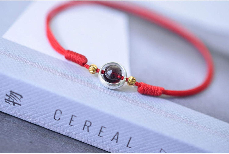 Cadeau id/éal pour petite amie parent fille ASR Bracelet de cheville r/églable en cordon rouge amie femme m/ère