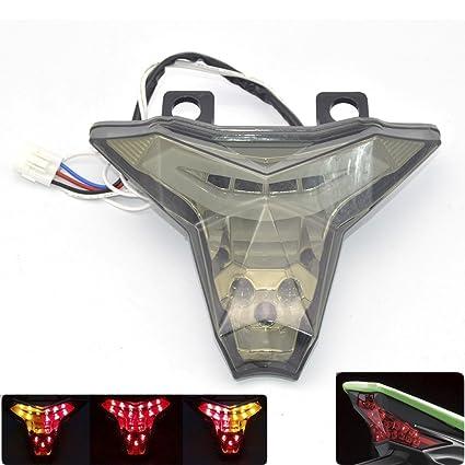Luz LED de freno para motocicleta, intermitente para ...