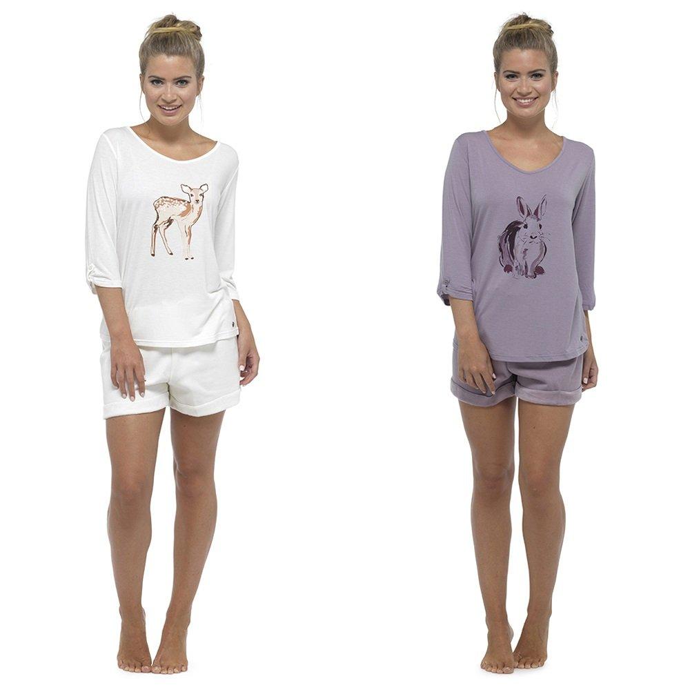 e0c96e40c72 Pyjamas for Women Girls Ladies PJ's Comfy Snuggle Warm Fleece Twosie Pajama  Set | Pyjama Flannel Shorts or Bottoms Set Lounge Wear for Women (8-10, ...