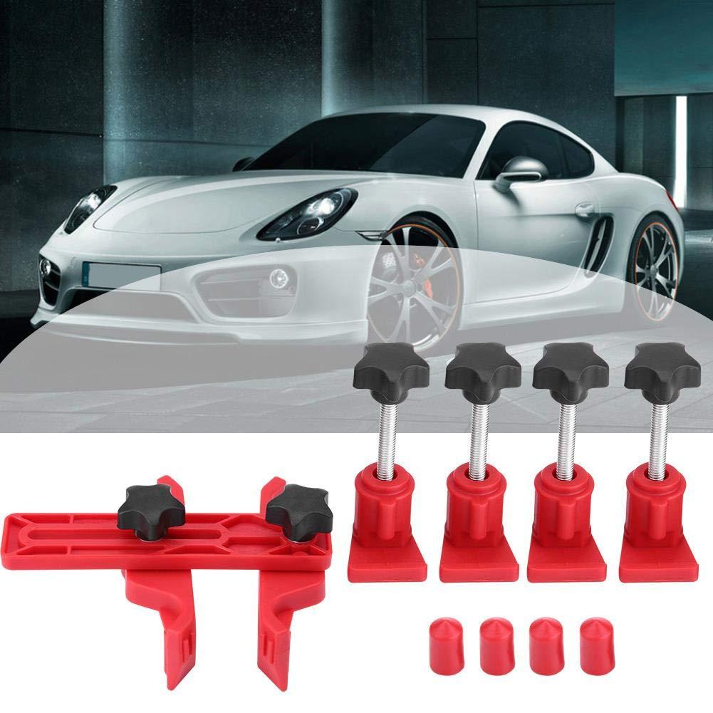 Auto Car Metal Black Plastic Herramienta de bloqueo de sincronizaci/ón del motor Dual Cam Clamp Camshaft Sprocket Gear Kit Universal Red Herramienta de sincronizaci/ón del motor