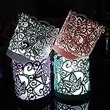 CozyT 100 PACK Tea Light Votive Wraps Paper Candle Holder Laser Cut For Decorative Wedding Party