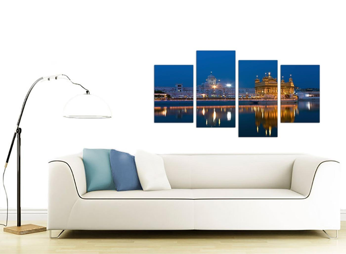 amazon com large sikh canvas wall art pictures of the golden amazon com large sikh canvas wall art pictures of the golden temple at amritsar set of 4 multi panel artwork modern split canvases xl 130cm wide