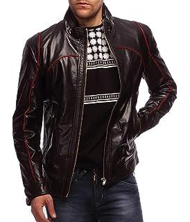 Travel Hide Mens Leather Jacket Motorcycle Genuine Lambskin Biker Jacket TM066