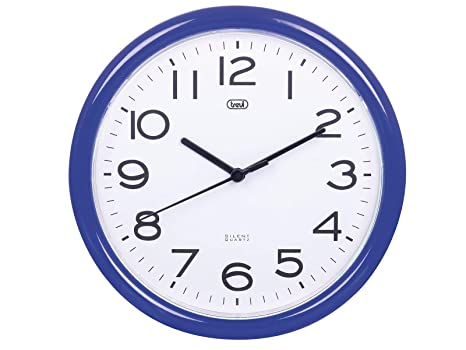 Trevi OM 3301 - Reloj de pared silencioso de 25,5 cm de diámetro con