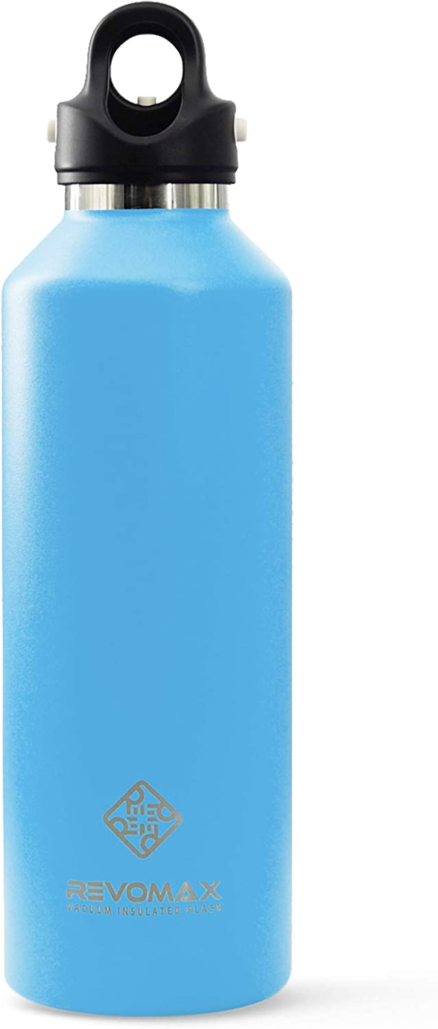 Vacuum Insulated Double-Walled Water Bottle with Twist-Free and No-Screw Insulated Flask, Portable Flask for Cold or Hot Beverages, 32oz - Revomax V2
