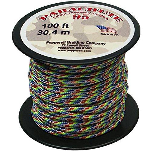 Pepperell 1.9mm Parachute Cord, 100-Feet, - Collection Parachute Mini