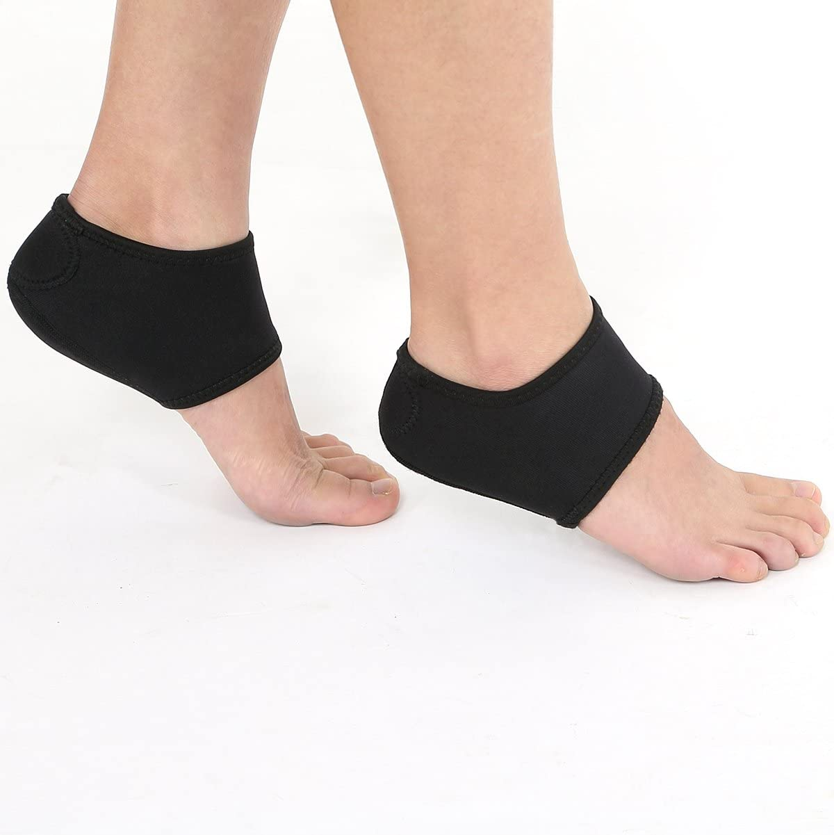Amazon Com Heel Support Plantar Fasciitis Foot Support Heel Pain Arch Support 1 Pair Sports Outdoors
