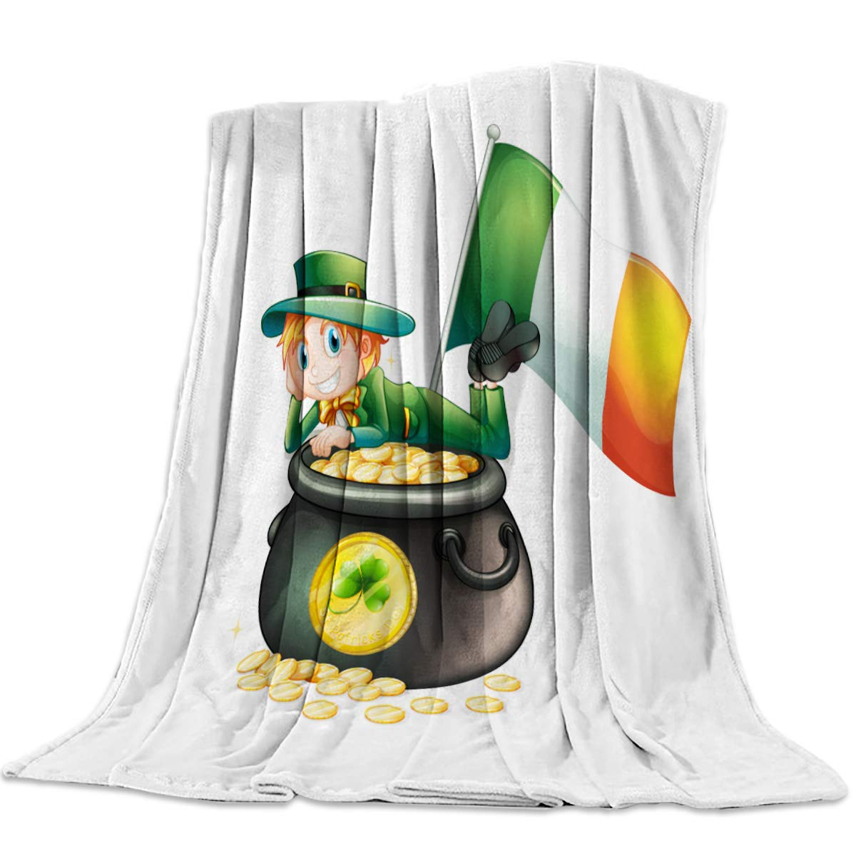 Amazon.com: SUN-Shine Happy St. Patricks Day Luxury Throw ...