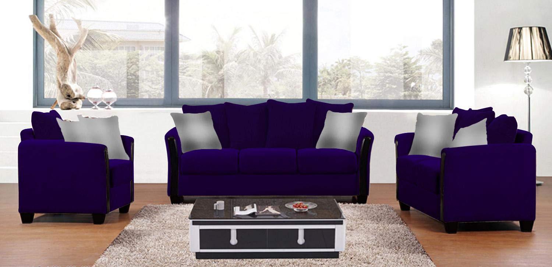 Galaxy Design Euro Sofa Set 6 Person 3 Seater 2 Seater And Single Chair Purple Color Model Gdf Euro 80prpl