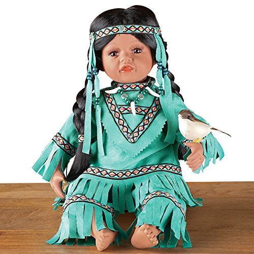 Collections Etc Women's Emona Native American Indian Girl Porcelain Doll