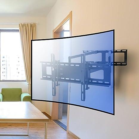 Vemount TV Soporte de Pared Universal para Pantallas Planas y Curvas Plasma LCD Monitor LED de 30-65 pulgadas(76cm-165cm), Máx Vesa 600x400mm, Doble Brazos Extensibles, Giratorio 180º, Máx Carga 55KG: Amazon.es: Electrónica