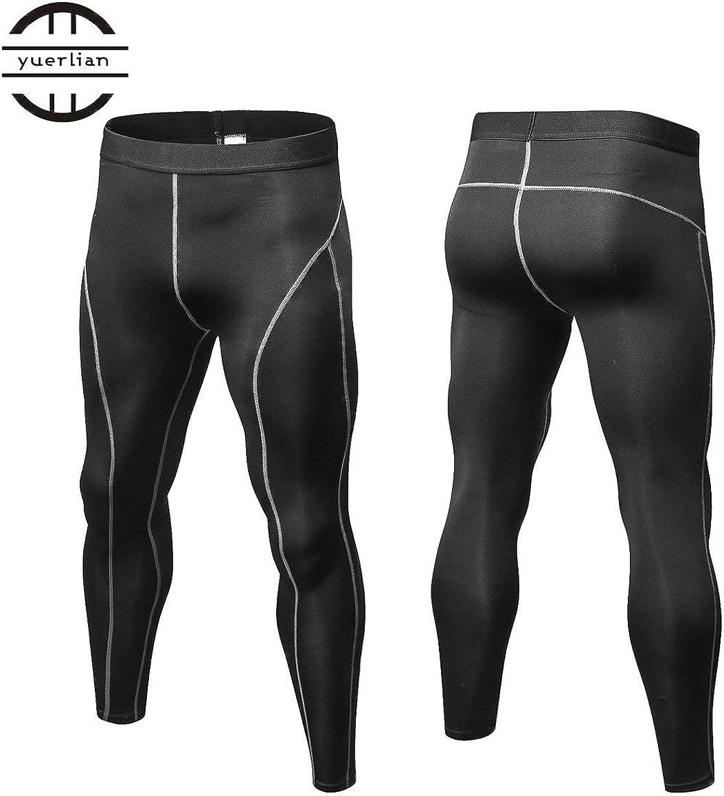 Funnyrunstore Hommes Pantalons Compression Collants Solid Color Sports Bodybuilding Mans Pantalon S/échage Rapide Running Skinny Leggings Couleur: noir; Taille: L