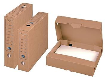 Nips 152430162 75 Select - Cajas para archivo, 20 unidades, 7,5 x 26,5 x 32,5 cm, color marrón: Amazon.es: Oficina y papelería