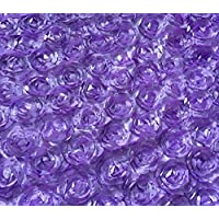 Aimeart Wedding Accessories 3D Rose Aisle Carpet Runner Tablecloth,  Light Purple