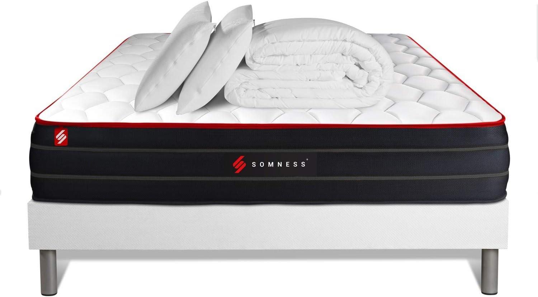 Pack Listo para Dormir de 200 x 200 cm, colchón Boost de ...
