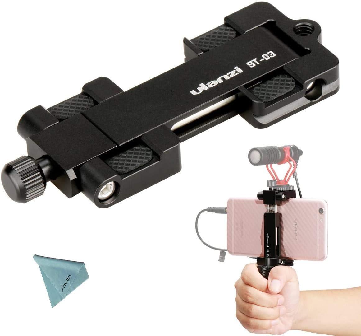 Ulanzi ST-03 Phone Clip Metal Smartphone Tripod Mount Adapter with ...