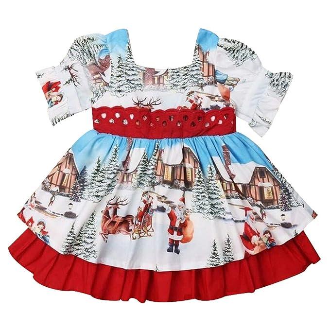Amazon.com: Vestido de Navidad para bebé con diseño de Papá ...