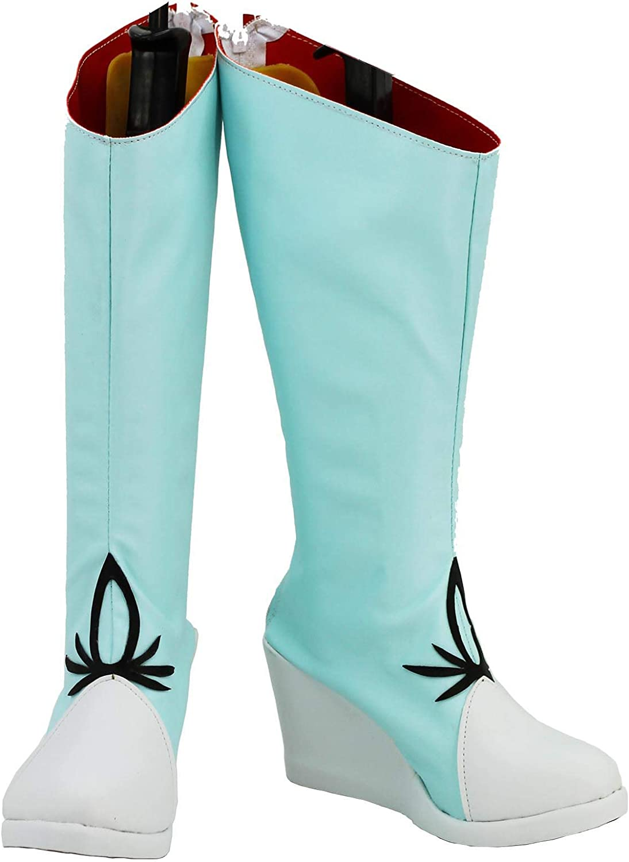 Allten Womens RWBY Yang Xiao Long Cosplay Booties Boots Halloween Shoes Costume