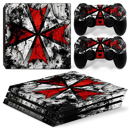 FriendlyTomato PS4 Pro Console and DualShock 4 Controller Skin Set - Umbrella - PlayStation 4 Pro Vinyl