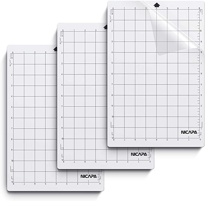 Replacement Cutting Mat Standard Grip Adhesive Mat with Measuring Grid for  G8A3