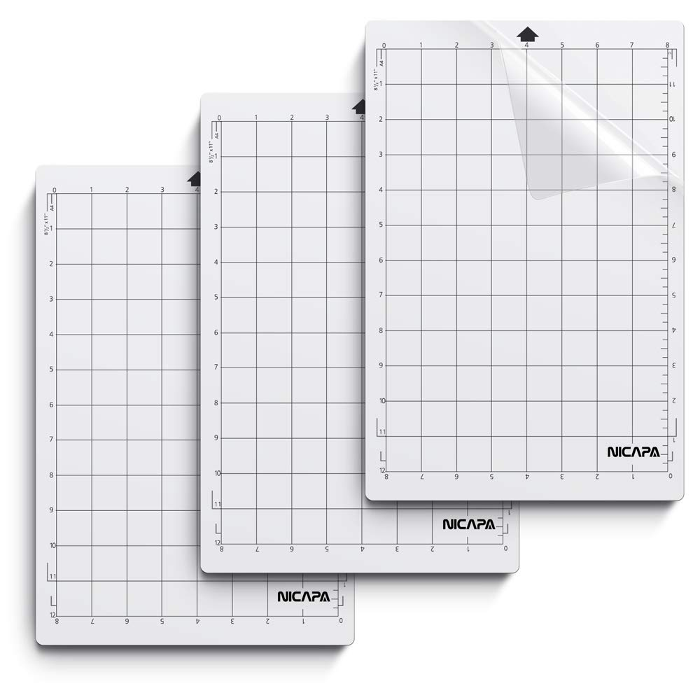 Nicapa StandardGrip Cutting Mat for Silhouette Cameo 3//2//1 12x12 inch,5 Mats Standard Adhesive Sticky Quilting Cricket Cut Mats Replacement Accessories for Silhouette Cameo