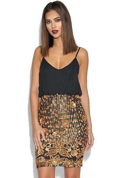 Diseño de flores para faldas Cami con diseño de lentejuelas y e instrucciones para hacer vestidos: Amazon.es: Ropa y accesorios