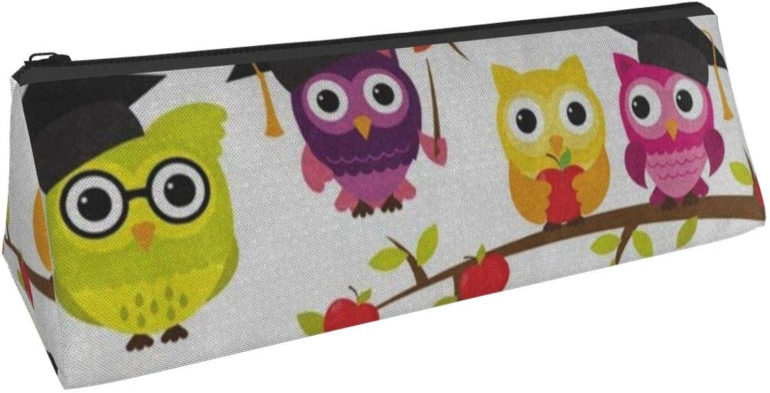 School Graduation Themed Cute Owl Bird Pen Bag Oxford Cloth for Boys & Girls College Middle School & Office Supplies Stationery