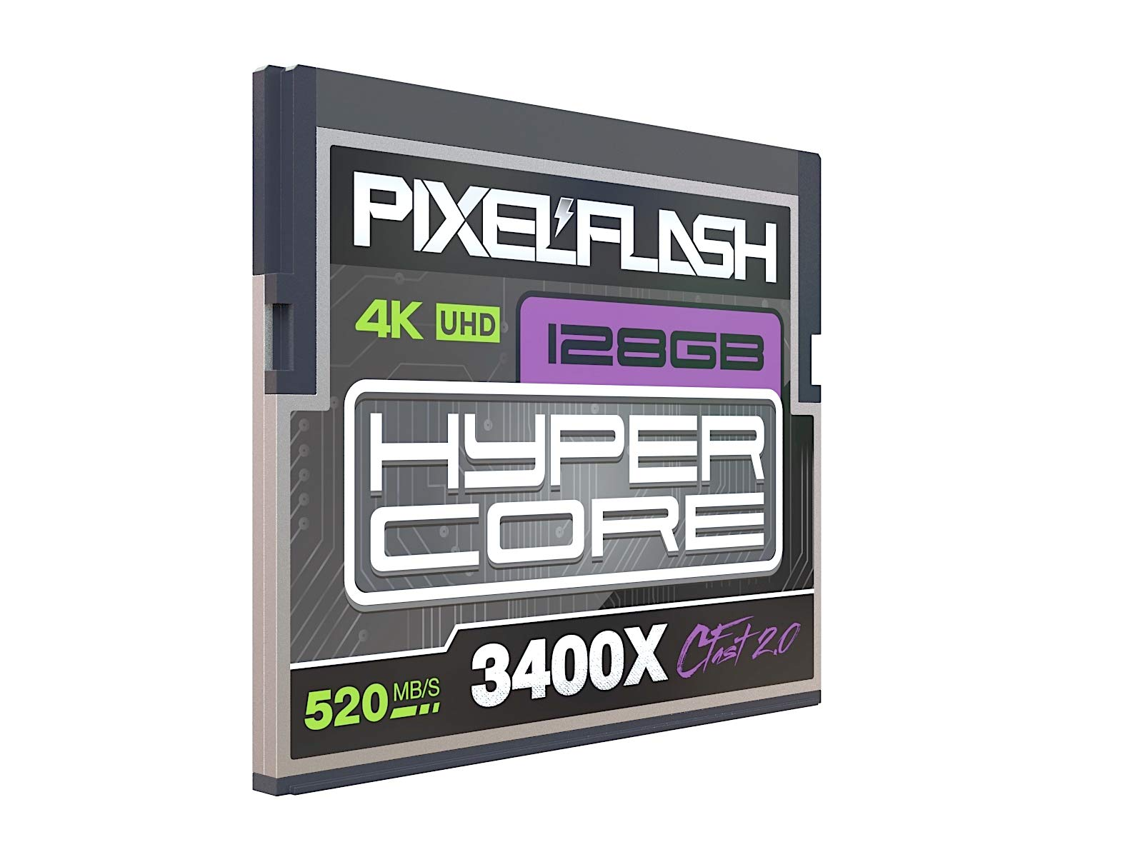 256GB PixelFlash Cfast 2.0 Memory Card 3400X Standard Version for Canon C300, XC10, XC15, Hasselblad, Blackmagic Cinema… 2 VIDEO PERFORMANCE GUARANTEE: 128GB CFast 2.0 from PixelFlash - VPG-90. FAST TRANSFER SPEED - 520 Mb/s Read up to 520Mb/s Write 3400x Memory Speed - Best bang for your buck! DSI(TM) LABORATORY CERTIFIED FLASH MEMORY: 100% Free of Errors and Defects - Never receive a faulty memory card again!