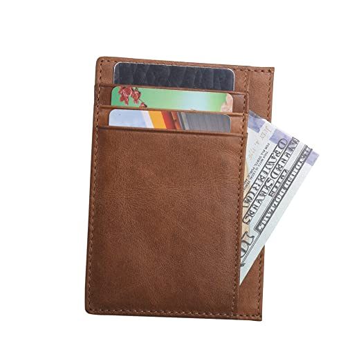 c1566d780e1 Image Unavailable. Image not available for. Color  Slim Wallet RFID Front  Pocket Wallet Minimalist Secure Thin Credit Card Holder
