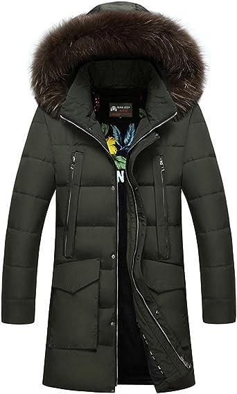 Pandaie-Mens Product Packable Down Jacket Men.Fashion Men Winter Warm Jacket Overcoat Outwear Slim Long Sleeve Zipper Coat