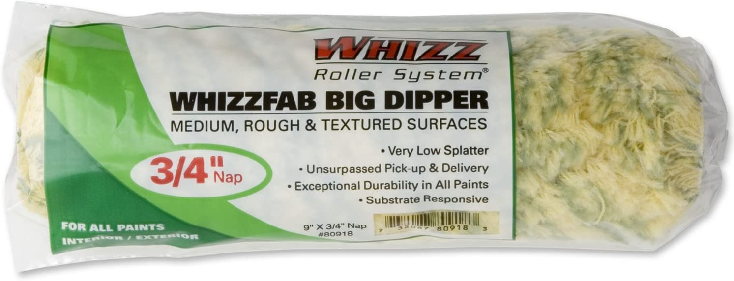Work Tools International 80918 9-Inch Big Dipper Roller Cover with 3//4-Inch Nap