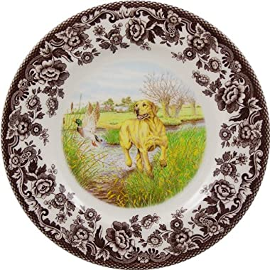Spode Woodland Hunting Dogs Yellow Labrador Retriever Salad Plate