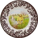 Spode Woodland Hunting Dogs Yellow Labrador Retriever Salad Plate
