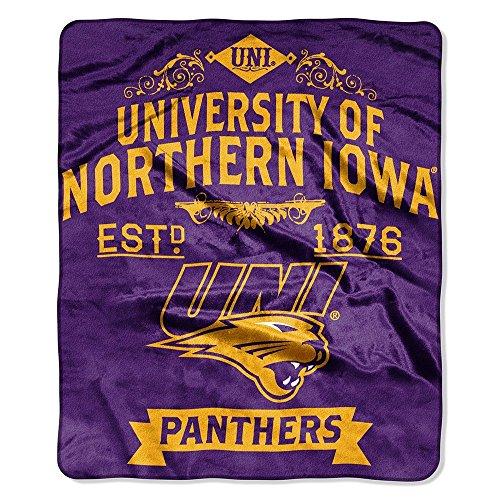 The Northwest Company Northern Iowa UNI Panthers Established 1876 Label Design 50x60 Royal Plush Raschel -