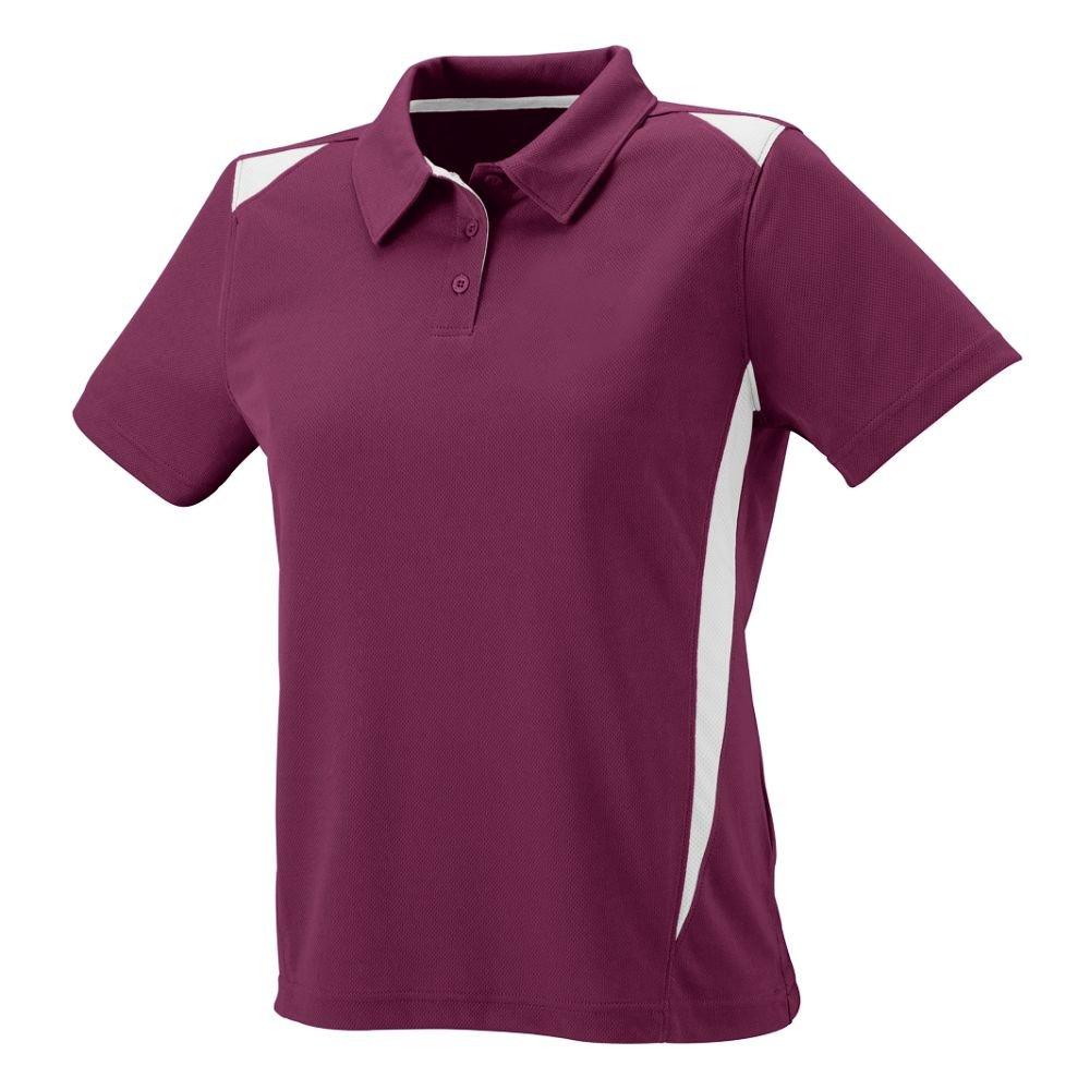 Augusta Sportswear WOMEN'S PREMIER SPORT SHIRT L Maroon/White