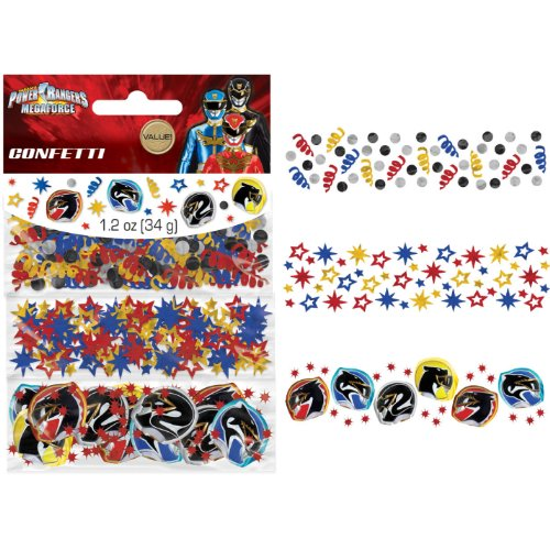amscan Power Rangers 'Mega Force' Confetti Value Pack (3 Types)]()