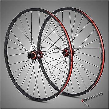 WCS Juego de Ruedas de Bicicleta 29 Pulgadas MTB Aleación de Aluminio Freno de Disco de Bicicleta 8/9/10/11 Velocidad Híbrido de Rueda Libre Bicicleta de montaña Doble llanta con Noche Anti-cursor: Amazon.es: